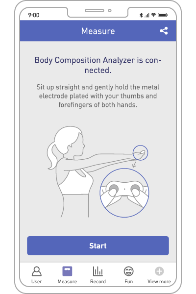 FITRUS, ONESMARTDIET, Connection, The Portable Body Composition Analyzer, Body Fat, Health Care, Fat Loss, Body Mass