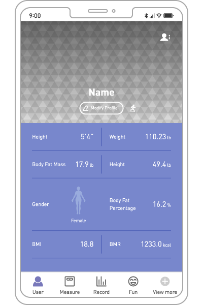 FITRUS, ONESMARTDIET, User Information, The Portable Body Composition Analyzer, Body Fat, Health Care, Fat Loss, Body Mass